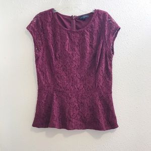 The limited top blouse size medium burgundy